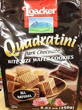 8.82oz Loacker Quadratini Bite Size Wafer Cookies Dark Chocolate