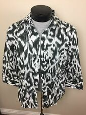 Foxcroft Women's Blouse~Fitted~Size 14~Wrinkle Free~3/4 Sleeves