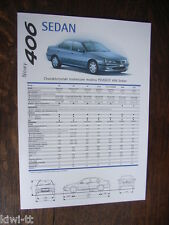 PEUGEOT 406 Sedan prospetto/brochure/DEPLIANT, PL