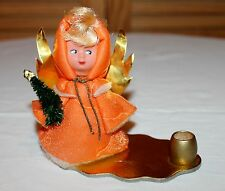Engel Wichtel orange Weihnachtsdeko Kerzenhalter Weihnachten alt antik DDR