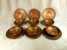 Benedict Art Studio Copper Plates and Bowls Arts & Crafts Antique Hand Hammered