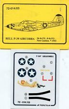 Propagteam Decals 1:72 Bell P-39 Aircobra 36th FS 8th FG New Guinea #72-014/03