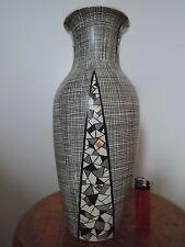 Villeroy & Boch Mettlach Vase, Filigran Mosaik, West German Pottery, 33 cm
