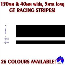 150mm+40mm(40mm GAP) GT racing stripes performance drift car vinyl decal sticker
