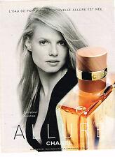 PUBLICITE ADVERTISING 045  2000  CHANEL   eau de parfum ALLURE