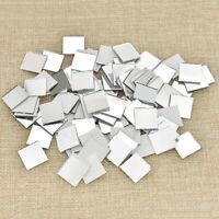 2Sizes Square Glass Mirror Mosaic Tiles DIY Craft Wall Artwork Supply Bulk 100pc
