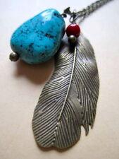 Brass Turquoise Gemstone Costume Necklaces & Pendants