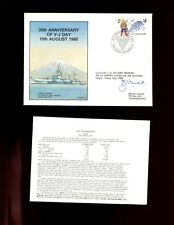 FDC  RNZN - 35th Annv. of V J Day. 15th August 1980,  SIGNED