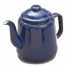 FALCON BLUE ENAMEL TEA POT WITH HANDLE & LID TEAPOT 1.5L - CAMPING