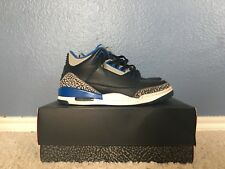 Air Jordan 3 Black Sport Blue With Original Box Size 9.5 2014