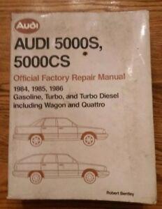 1984 1985 AUDI 5000S 5000 S Workshop Service Shop Repair Manual