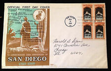 Official First Day Cover San Diego 1969 with First Day of Issue Stamp & Cache