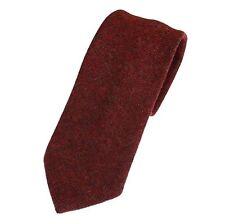 Red Mix Tweed Herringbone Tie - Made in the UK (U121/30)