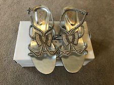 Kids Silver DIAMANTE Sandals SIZE UK 2 New With Box