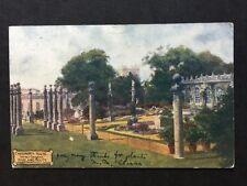 Vintage Postcard - Derbyshire #61 - RP Chatsworth House French Gardens - 1908
