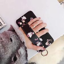 Sweet Cute Hello Kitty Wristband Leather soft case cover for iphoneX 8 7 6S plus