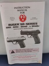 RUGER SR- SERIES INSTRUCTION MANUAL  46 Pages