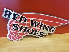 Red Wing Shoes Metal Sign (New Logo Design)
