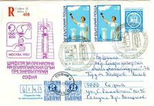 Bulgaria Olympische Spiele Olympic Games 1980 Olympic stationery Sofia