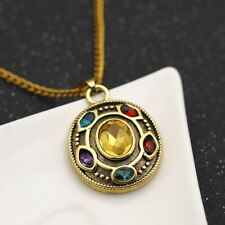 Movie of Avengers Thanos Infinity Stone Men Necklace  Pendant Chain Cosplay Gift