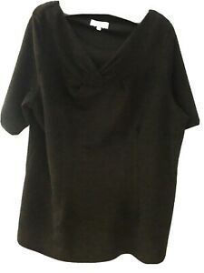 LADIES TOP SIZE 22 MARKS AND SPENCER BLACK NEW WITHOUT LABELS