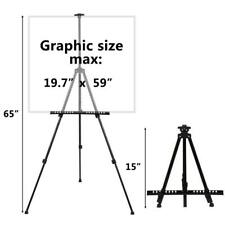 Portable Folding Artist Telescopic Painting Easel Tripod Display Stand Craft Bag