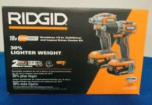 "RIDGID 18V SubCompact Brushless 1/2"" Drill/Driver and Impact Combo Kit -R9780"