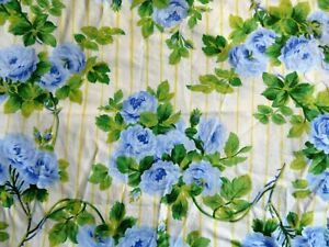 """cotton remnant (51 x 27"""") """"Rose on stripe"""" by Free Spirit"""