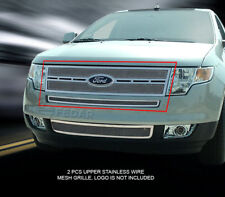 Fedar Fits 2007-2010 Ford Edge Polished Replacement Formed Mesh Grille Insert