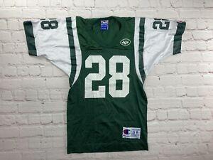 Vintage 90s NFL Champion Curtis Martin #28 New York Jets White Jersey KIDS Sz 8