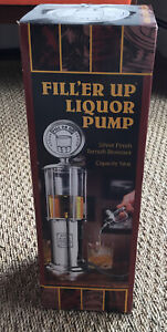 Godinger Silver Finish Tarnish Resistant Fill'er Up Liquor Pump Item # 1958