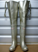 *Ultra Rare Hunter Osten Gold Rubber Hip Boots Waders US8 EU38 UK5 Watstiefel*