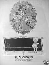 PUBLICITÉ 1924 AU BUCHERON LE GRAND MAGASIN DU MEUBLE PARIS - ADVERTISING