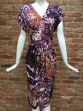 Trinny And Susannah Stretch Multi Animal Print Bodycon Dress Size 16