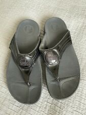 Lovely FitFlop Fit Flop Flip Flops Uk Size 6 Grey Sheen Summer Sandals