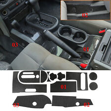 12pieces Soft Carbon Fiber Gear Shift Cover Trim For Jeep Wrangler JK 2007-2010