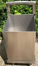 More details for imc bartender bottle / rubbish bin under bar on wheels stainless steel
