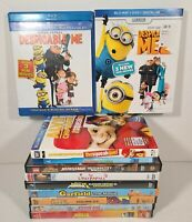 Kids Blu-ray and DVD Lot of 11 Movies Animated Despicable Me Kung Fu Panda Alvin