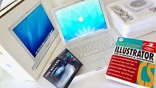 "Apple iBook G4 14"" BOXED Original 2004 .1.07 GHz 40GB HD 768 RAM . Working GREAT"