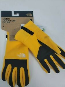 The North Face Mens Denali Etip Gloves Large Winter Yellow Black Touchscreen