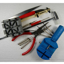 16 Piece Watch Repair Tool Kit Watchband Link Strap Pin Back Remover SX