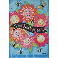"Grow Happiness Sm Garden Flag 12.5"" X 18"" Seasonal 27-2876-189 Flip It!"