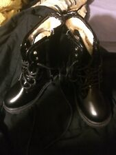Childs Black Military Boots Size 29 US 11.5
