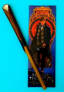 "NEW Fantastic Beasts Newt Wand Pen & Bookmark 7.25"" Magizoologist Newt Scamander"