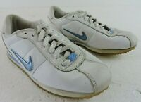 Nike Womens Size 8 Swoosh Leather All Around Walking Training Sneakers Shoes