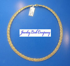 """14K Yellow Gold Fancy Braided Omega Necklace 7mm Width 18"""" 16.7gr Italian Made"""