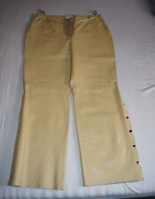 Echtes Leder! Lederhose mit Drucknöpfen, beige, NEU! 76daa596b8