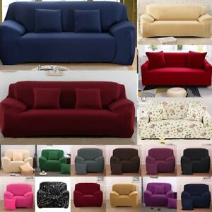 1-4 Seater Sofa Couch Stretch Covers Elastic Fabric Settee Slip Cover Protector