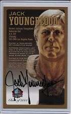 Jack Youngblood Pro Football HOF Autographed Bronze Bust Card 100/150