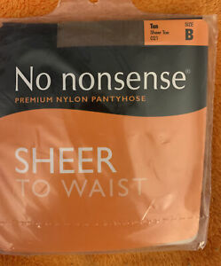 No Nonsense Sheer To Waist Pantyhose 21 Tan Size B